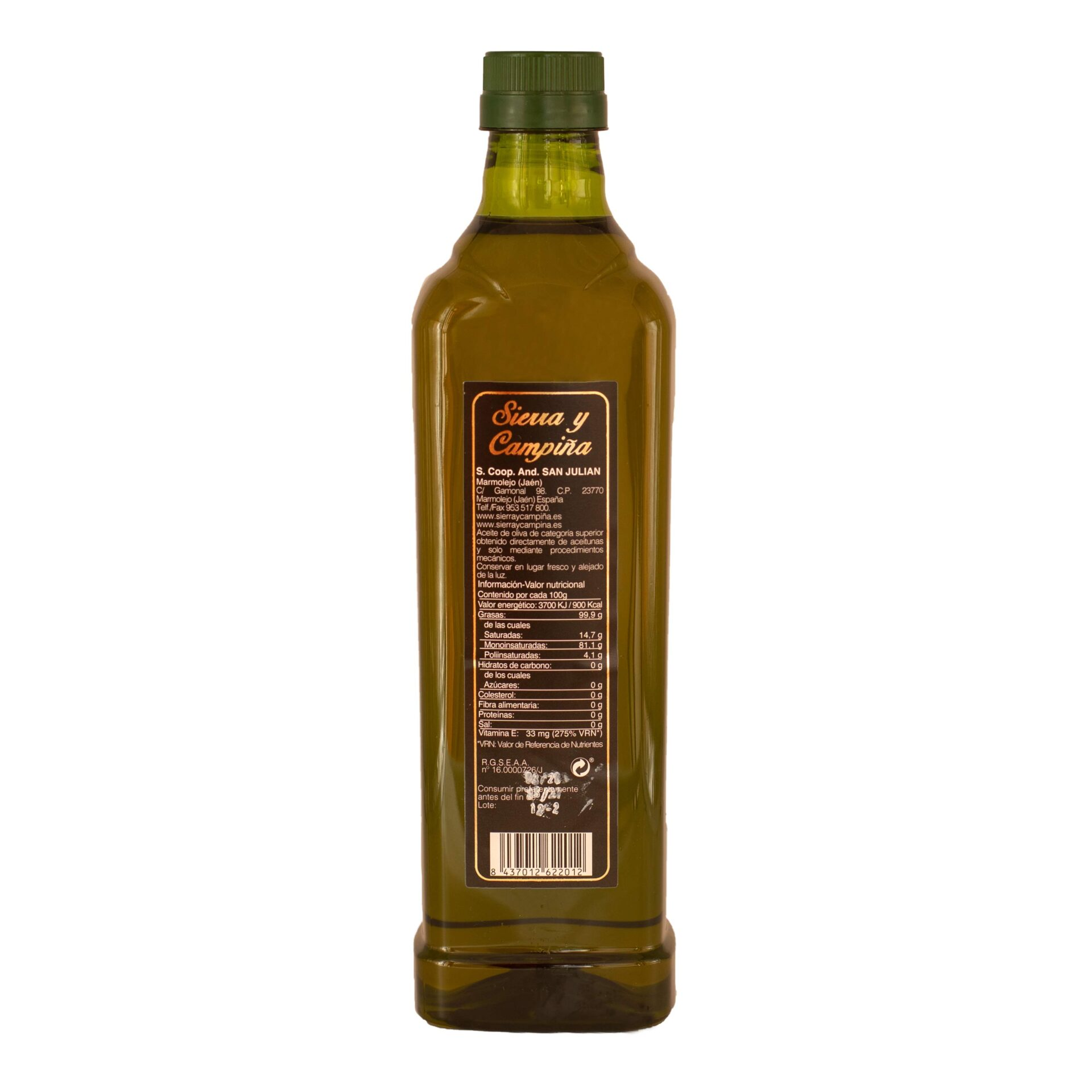 AOVE Pet 1 litro Aceite de oliva virgen