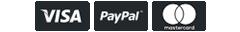 Logos Visa, PayPal y MasterdCard